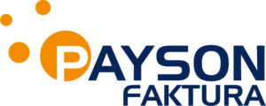 Payson faktura logo blå text