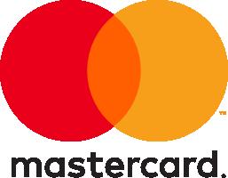 Mastercard logo svart text