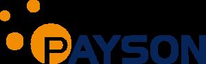 Payson logo blå text