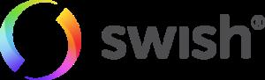 Swish logo mörkgrå text