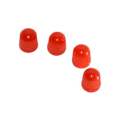 4st röda ventilhattar i plast - för bilventiler